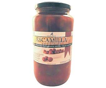 Escamilla Aceitunas verdes manzanilla con mojo canario Frasco de 600 g