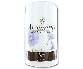 AROMÁTICO Vela cilíndrica perfumada con olor a flor de lino 1 Unidad