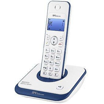 SPC TELECOM Téfono inalámbrico 7243A DECT Digital con manos libres en color blanco y azul 1 Unidad