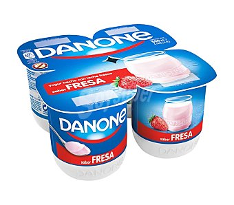 Danone Yogur sabor fresa  4 uds de 120 g