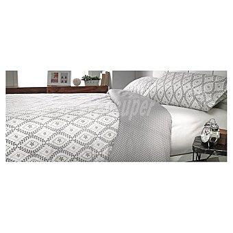 CASACTUAL Jazmín funda nórdica estampada en color gris para cama 135 cm
