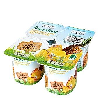 Carrefour Yogur con piña Pack de 4x125 g