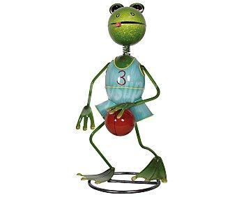 PROFILINE Figura de resina para jardín con la forma de una rana jugando al baloncesto, medidas: 23x20x45 centímetros 1 unidad