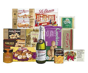 CESTA NAVIDAD Cesta navideña de Galindo, lote nº 801 (sin alcohol) 801