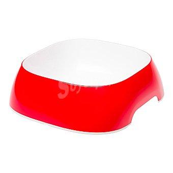 Ferplast Comedero para mascotas color rojo capacidad medidas 23,5x22,5x7 cm 1 unidad 1,2 l