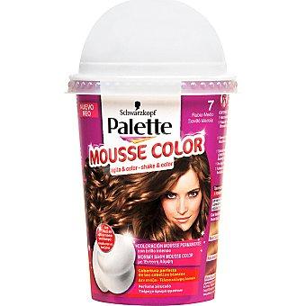 Schwarzkopf Palette tinte nº 7 Rubio Medio coloración Mousse Color permanente con brillo intenso envase 1 unidad con perfume afrutado Envase 1 unidad