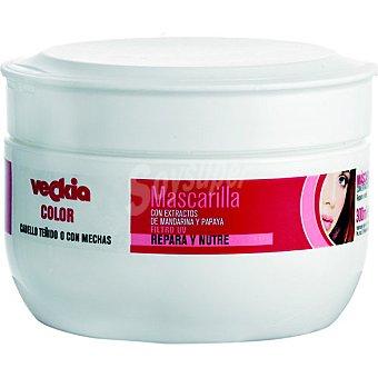 Veckia Mascarilla color con extracto de mandarina y papaya para cabello teñido y con mechas Repara y Nutre Tarro 300 ml