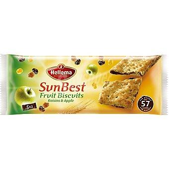 HELLEMA Sun Best Galletas rellenas de manzana y pasas Paquete 218 g