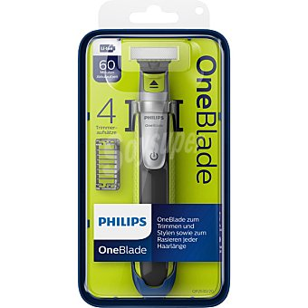 Philips One Blade QP2530/20 recortador de barba 4 peines con bateria de iones de litio blister recorta perfila y afeita cualquier longitud de pelo 1 unidad