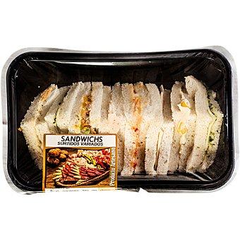 Chachy mini sandwichs surtidos bandeja 8 unidades