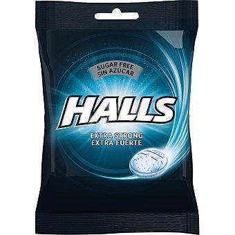 Halls Caramelos extrafuerte sin azúcar Bolsa 100 g