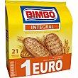 Panecillos integrales tostados 100% natural  paquete de 234 g Bimbo