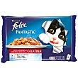 Fantastic alimento para gatos en gelatina selección de carnes 4 x 100 gr Purina Felix