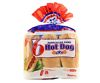 Auchan Pan para Hot Dogs 6 unidades