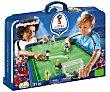 Conjunto de juego Campo de fútbol en maletín, incluye 4 figuras, Mundial Rusia 2018, 9298 PLAYMOBIL.  Playmobil