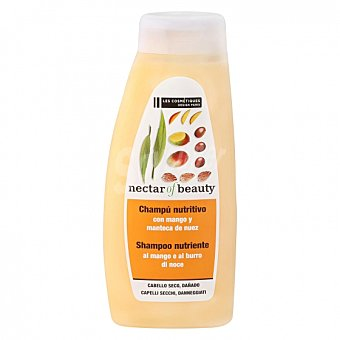 Les Cosmétiques Champú Mango & nuez para cabello seco -nectar of Beauty 500 ml 500 ml