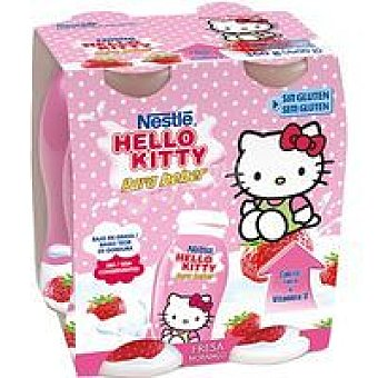 Nestlé Hello Kitty de fresa para beber Pack 4x90 ml