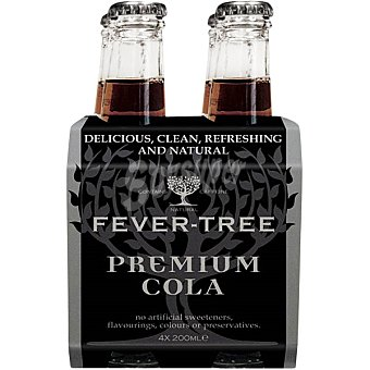 FEVER TREE Premium Refresco de cola Pack 4 botellas 20 cl