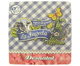 La Fageda Yogur desnatado natural Pack 4x125 g