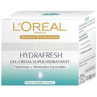 Hydrafresh L'Oréal Paris gel crema hidratante piel normal / mixta Tarro 50 ml