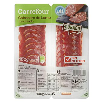 Carrefour Cabecero de lomo - Sin Gluten 100 g