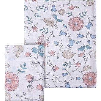 Unit Pajaros funda nordica Pajaros y hojas color rosa para cama 135 cm
