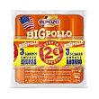Salchichas BIG pollo Pack 3x180 g ElPozo