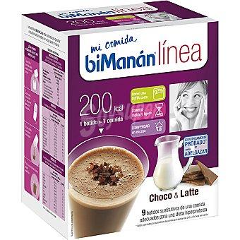 BIMANAN LINEA Mi Comida Choco & Latte batidos sustitutivos caja 270 g 9 x 30 g