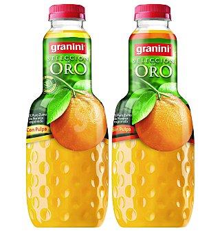 Granini Zumo exprimido de naranja con pulpa Selección Oro Botella 1 litro