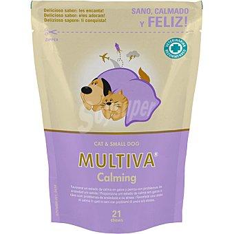 Multiva calming suplemento nutricional para perros en período de estrés raza pequeña envase 21 unidades