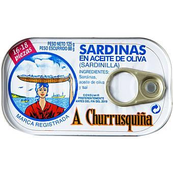 A Churrusquiña Sardinillas en aceite de oliva 16 - 18 piezas Lata 85 g neto escurrido