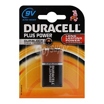 Duracell Pila 6F22 9V plus power 1 Und