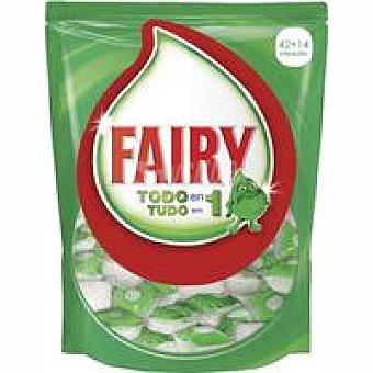 Fairy Lavavajillas máquina Todo en 1 Bolsa 42+14 dosis