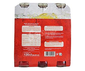 Auchan Bitter sin alcohol Botella de 20 centilitros pack de 6