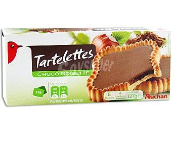 Auchan Tartaletas de galleta con relleno de chocolate y avellanas 140 gramos