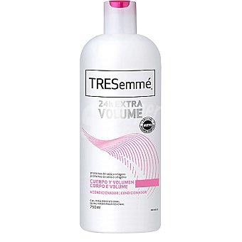 Tresemmé 24 horas Extra Volumen acondicionador con proteínas de seda y colágeno frasco 750 ml cuerpo y volumen Frasco 750 ml