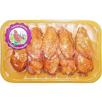 El Corte Inglés Alas partidas adobadas suprema de pollo de corral Bandeja de 500 g