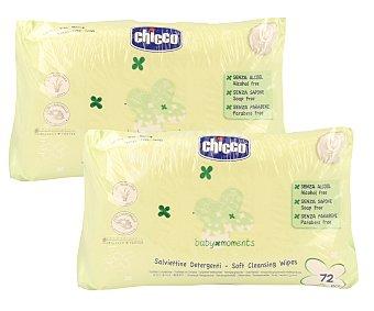 CHICCO Toallitas limpiadoras baby moments de 72 Unidades
