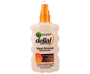 Delial Garnier Spray bronceador con factor protección 20 (media) 200 mililitros