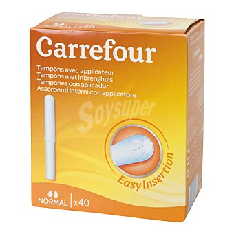 Carrefour Tampones con aplicador Super 40 ud