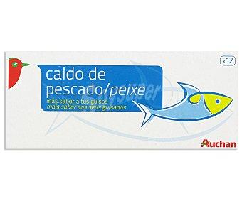 Auchan Caldo de pescado Pack de 12 uds