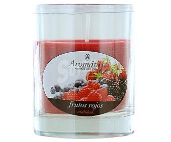 AMBIENTAIR Vela en vaso perfumada con olor a fresa, 8 centímetros 1 Unidad