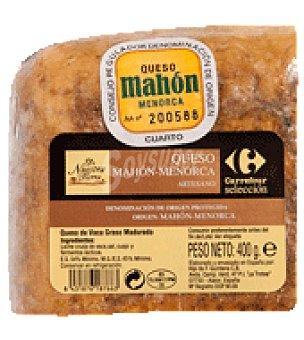 De nuestra tierra Queso mahon porción 400 g