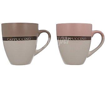 """GLAM Taza-mug de cerámica bicolor """"Capuccino"""", 0,45 litros, GLAM. 0,45 litros"""