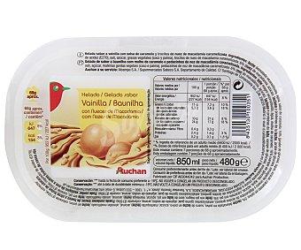 Auchan Helado de vainilla y nueces de macadamia Tarrina de 850 mililitros
