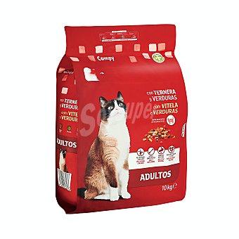 Compy Comida gato croqueta ternera y verduras Paquete 10 kg