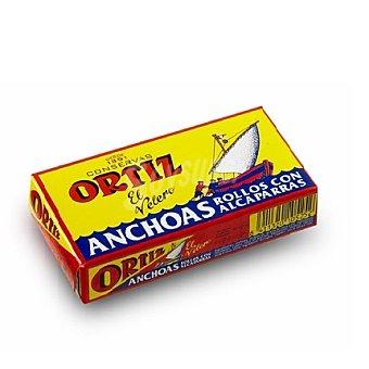 Ortiz Rollos de anchoas con alcaparras 50 ml