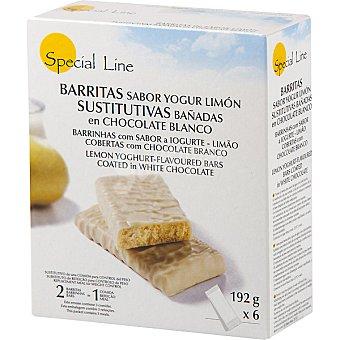 Special Line barritas sustitutivas sabor yogur de limón con chocolate blanco envase 192 g 6 unidades