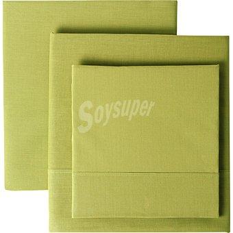 Casactual New Liso Juego de sabanas color verde para cama 135 cm