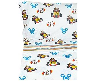 Mickey Disney Juego de sábanas infantil de 3 piezas 50% algodón para cama de 105cm. diseño Mickey Mouse, disney
